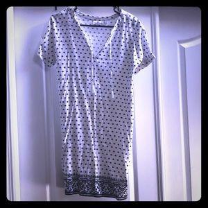 Vineyard Vines Fan Border Print Tunic Dress